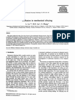 Diffusion in Mechanical Alloying