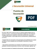 Presentacion de Puestos de Vacunacion