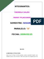 BLOGS POR FANNY PILAGUANO Y MARIELA SALÁN