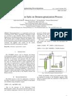 Effect of Sodium Salts on Demercaptanization Process