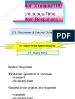 Chapter 2 System IInd Order Responses