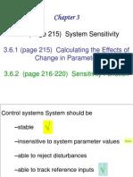 Chapter 3 System Sensitivity