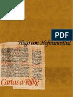 Von Hofmannsthal Hugo - Cartas a Rilke