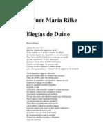 Rilke Rainer Maria - Elegias de Duino