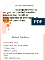 Factual Information Questions ...!!!