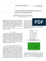 Evolving RoboCup Soccer Player Formations by means of Particle Swarm Optimization