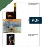art history handout