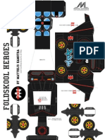 Batmovile Foldskool Heroes Series by Matthijs Kamstra