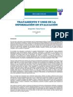 TRATAMIENTO Y USOS DE LA INFORMACIÓN EN EVALUACIÓN