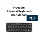 Freedom Universal Keyboard User Manual