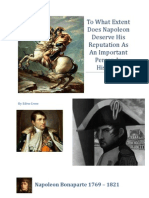 To What Extent Does Napoleon Deserve His Reputation as an Important Person in History