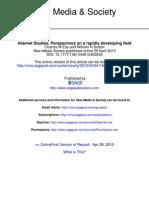 Internet Studies Perspectives