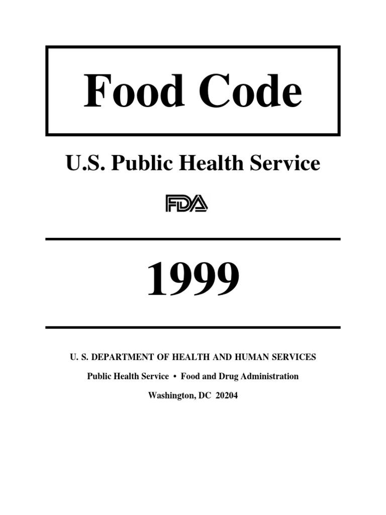 1999 fda food code food and drug administration foodborne illness altavistaventures Gallery