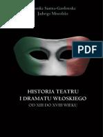 Historia teatru i dramatu włoskiego od XIII do XXI wieku - ebook
