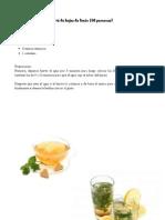 El té de hojas de limón
