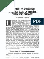 Vernant Geometrie Cosmologie-grecque LP 1963
