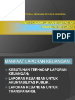 Analisa Laporan Keuangan Pemerintah Pusat