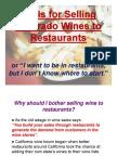 Wine Sales to Restaurants 09