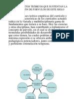 FUNDAMENTOS TEÓRICOS QUE SUSTENTAN LA EDUCACIÓN DE PÁRVULOS