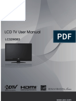 AOC LCD TV LC32W063 User Manual