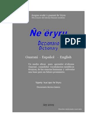 Diccionario Técnico Guarani-Español-Inglés | Diccionario ...