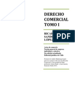 Derecho Comercial tomo I, Ricardo Sandoval López