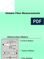 Volume flow Measurements