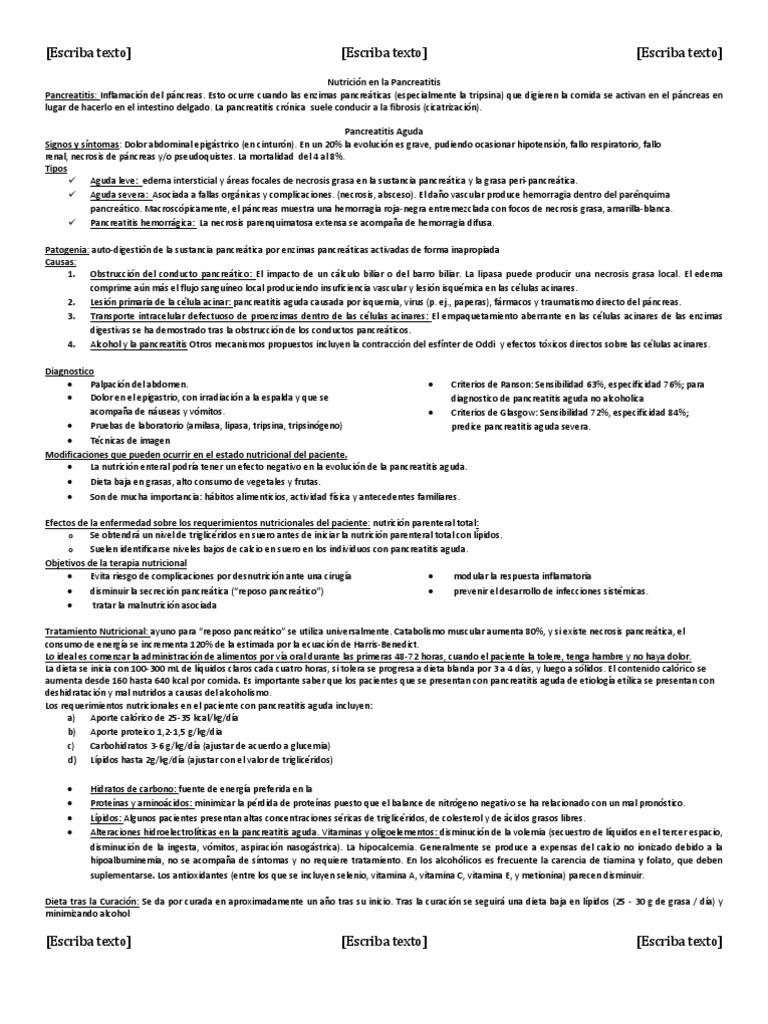 Necrosis del páncreas: síntomas y tratamiento
