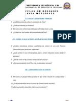 CONCURSO BIBLICO 2013 - ARTICULOS DE RELIGIÓN