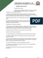 CONCURSO BIBLICO 2013 - PERSONAJES