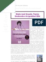Premio Emakunde a María José Urruzola