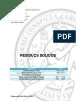 RESIDUOS SANITARIOS