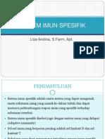 Imunologi Sistem Imun Spesifik