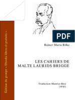 Rilke Cahiers Malte Laurids Brigge