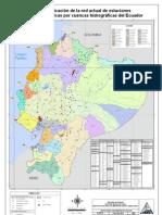mapa ecuador Estaciones meteorologicas hidrologicas A0