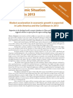 Economic Situation 2013 South America