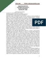 GRANDE MUNUS LETTERA ENCICLICA DI SUA SANTITÀ LEONE PP. XIII