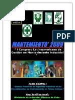 Mantenimiento' 2009 - i Congreso Latinoamericano en Mantenimiento Industrial Ii_la Habana