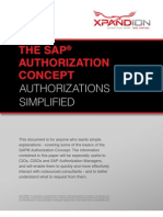 Xpandion the SAP Authorization Concept