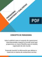 Paradigmas Cualitativo y Cuantitativo