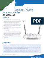 TD-W8961ND V2 Datasheet