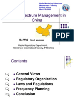 Radio Spectrum Management in China