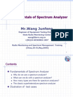 Fundamentals of Spectrum Analyzer