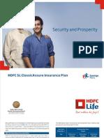 HDFC SL ClassicAssure Insurance Plan