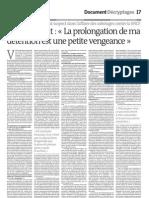 Le Monde 26 Mai 2009 p17