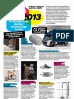 Designs of 2013
