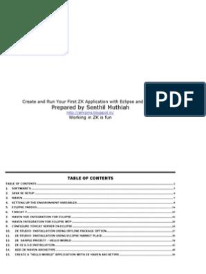 Java Eclipse ZK Maven Tomcat Setup | Eclipse (Software) | Computing