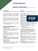 Warranty Solution Brief Detering Consulting