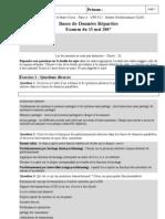 Bdr Exam 2007corrige