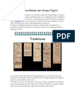 Cartuchos Reales Del Antiguo Egipto